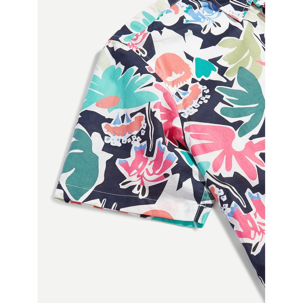 Men Tropical Beach Style Shirt