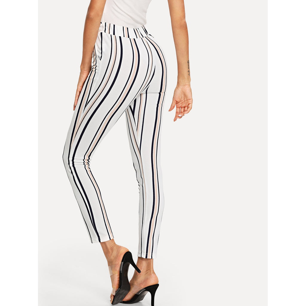 New Style Striped Skinny Pants