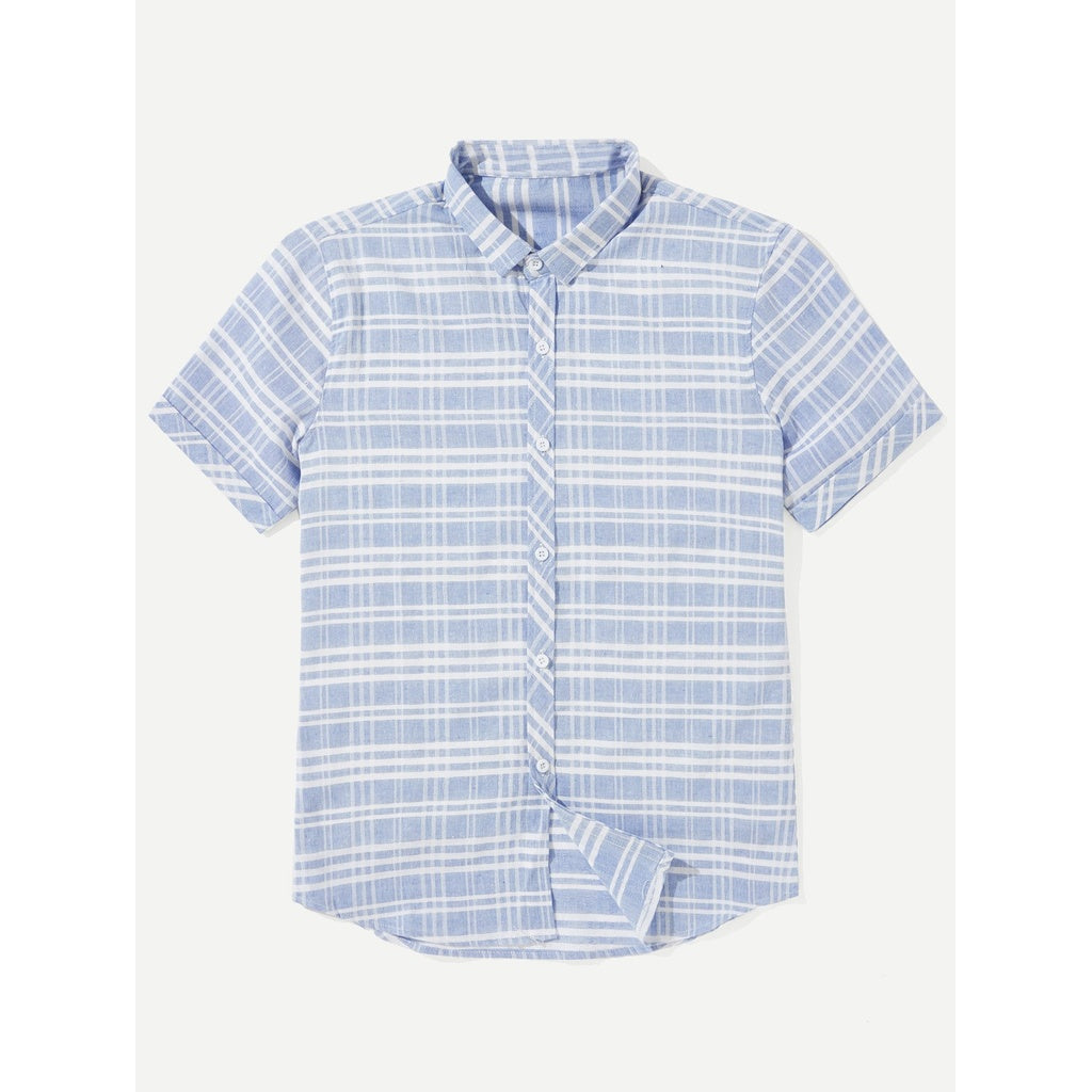 New Men Casual Style Plaid Shirt