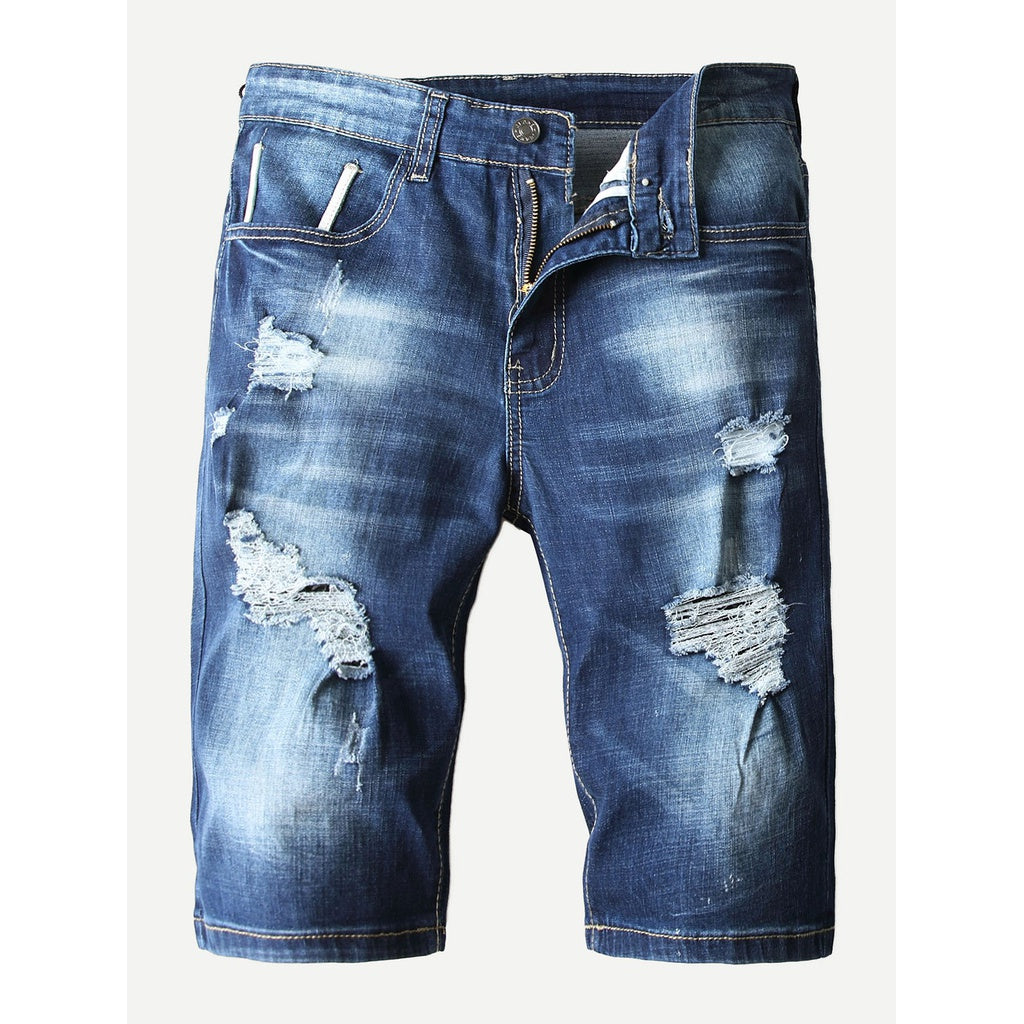 Men Ruff and Tuff Washed Denim Shorts