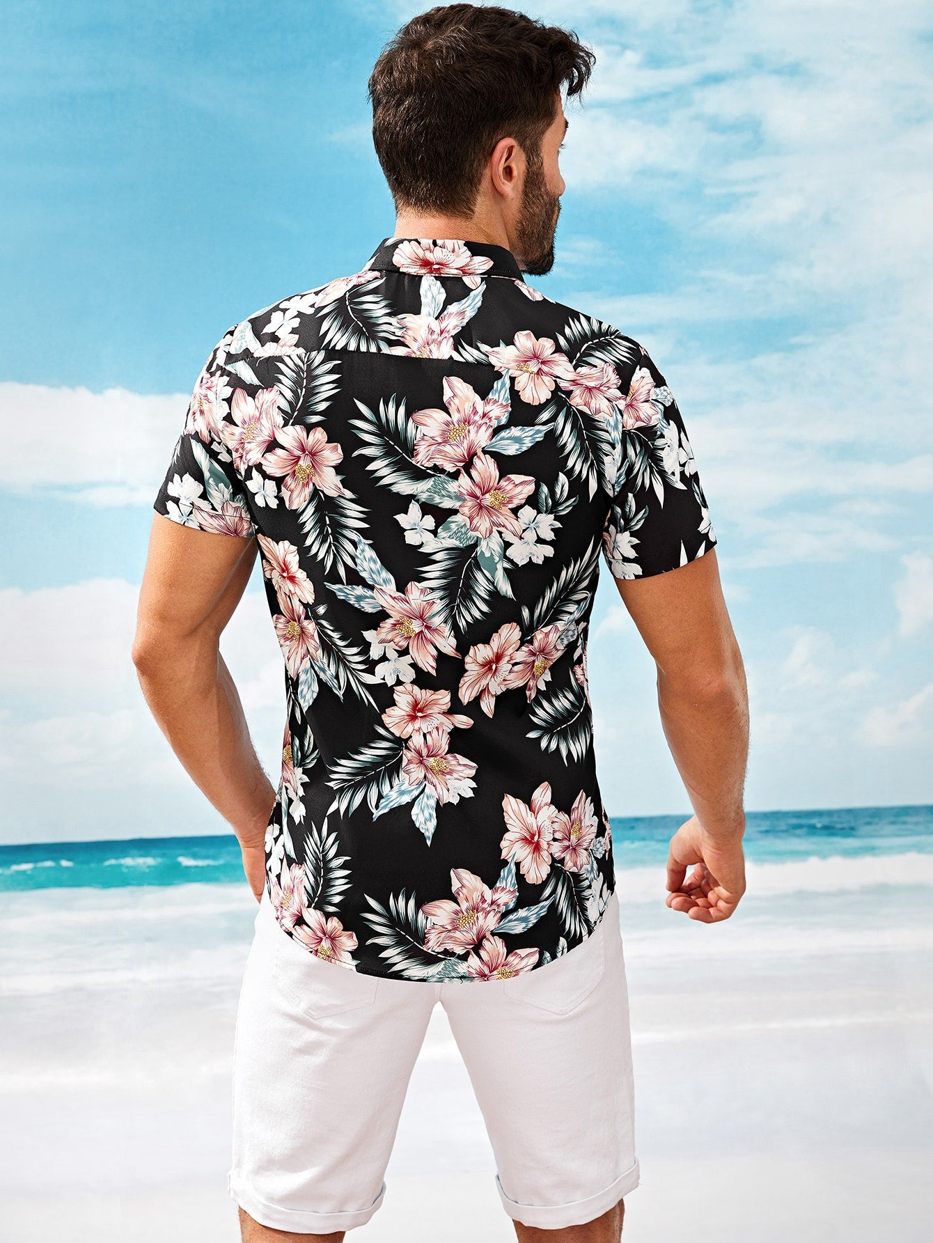 Men Floral Style Summer Shirt