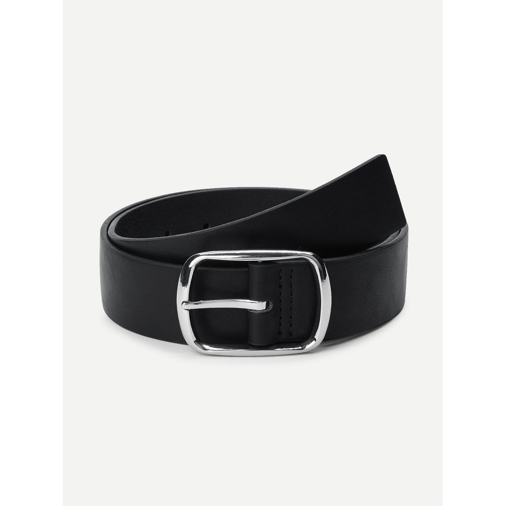 New Leather Style Metal Buckle Belt