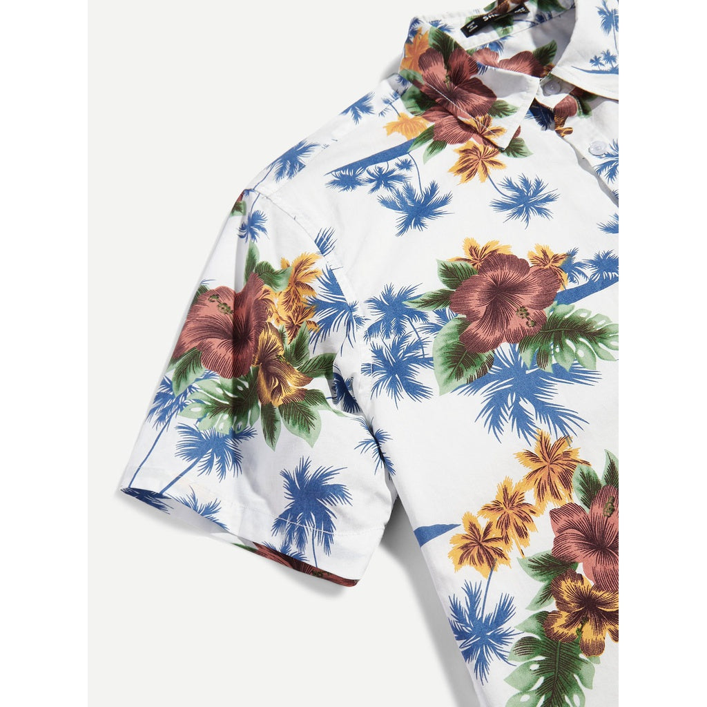 Men Trendy Flower Style Shirt - BrandsGuru