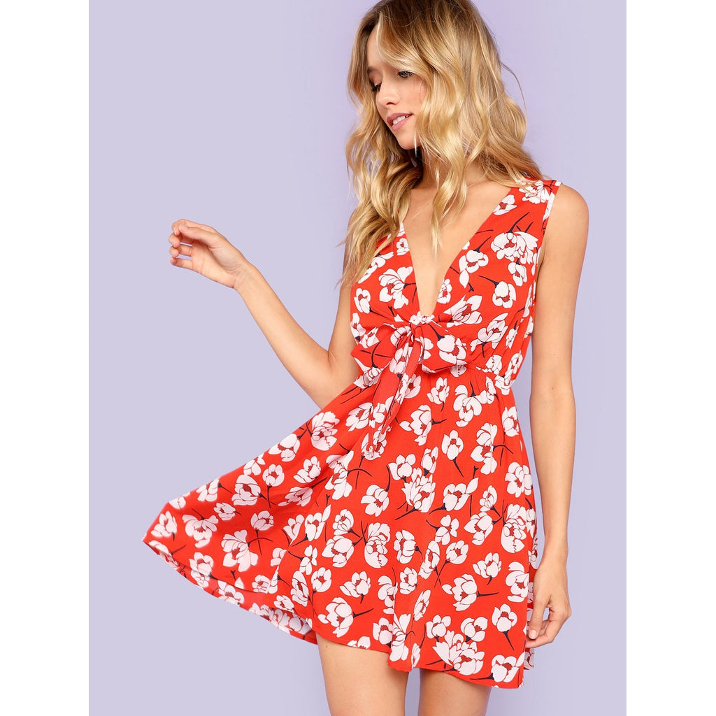 Gorgeous Floral Print Fit and Flare Dress