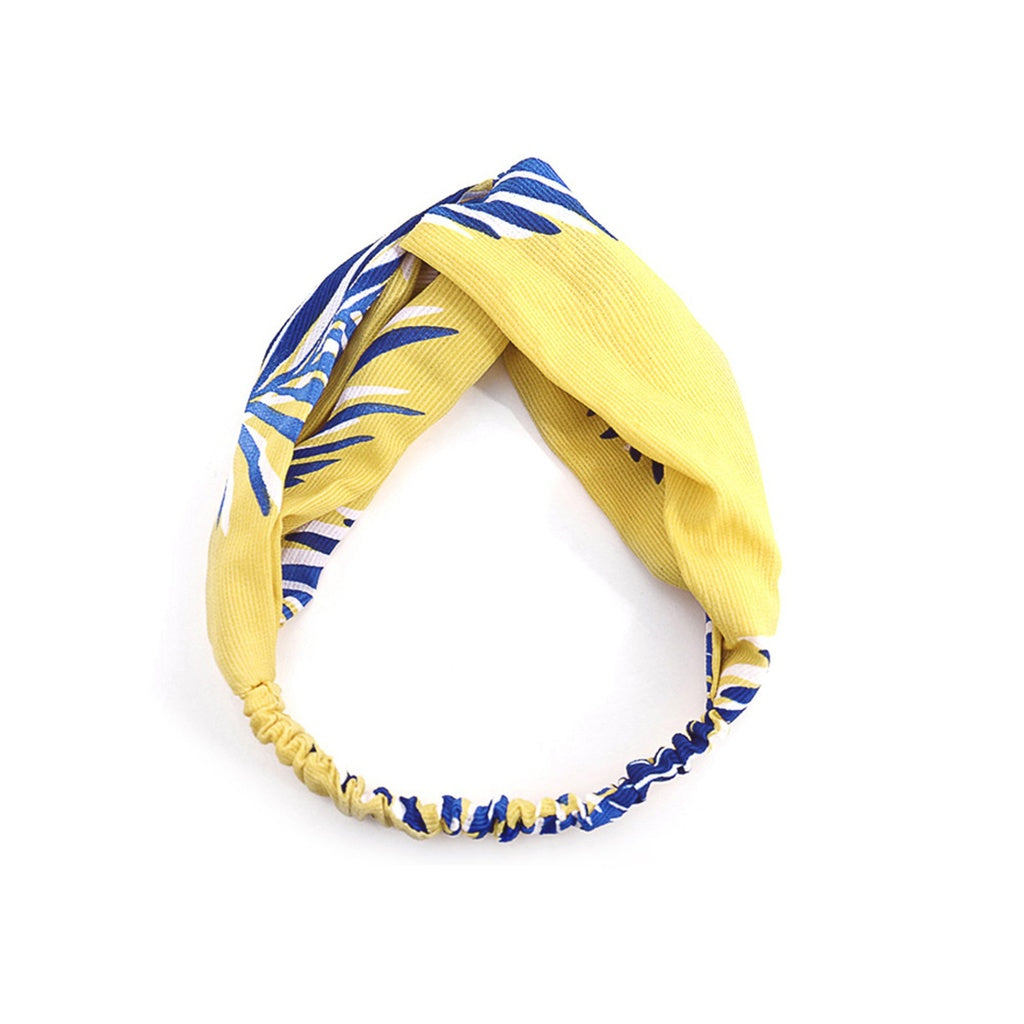 Stylish Leaf Print Twist Headband