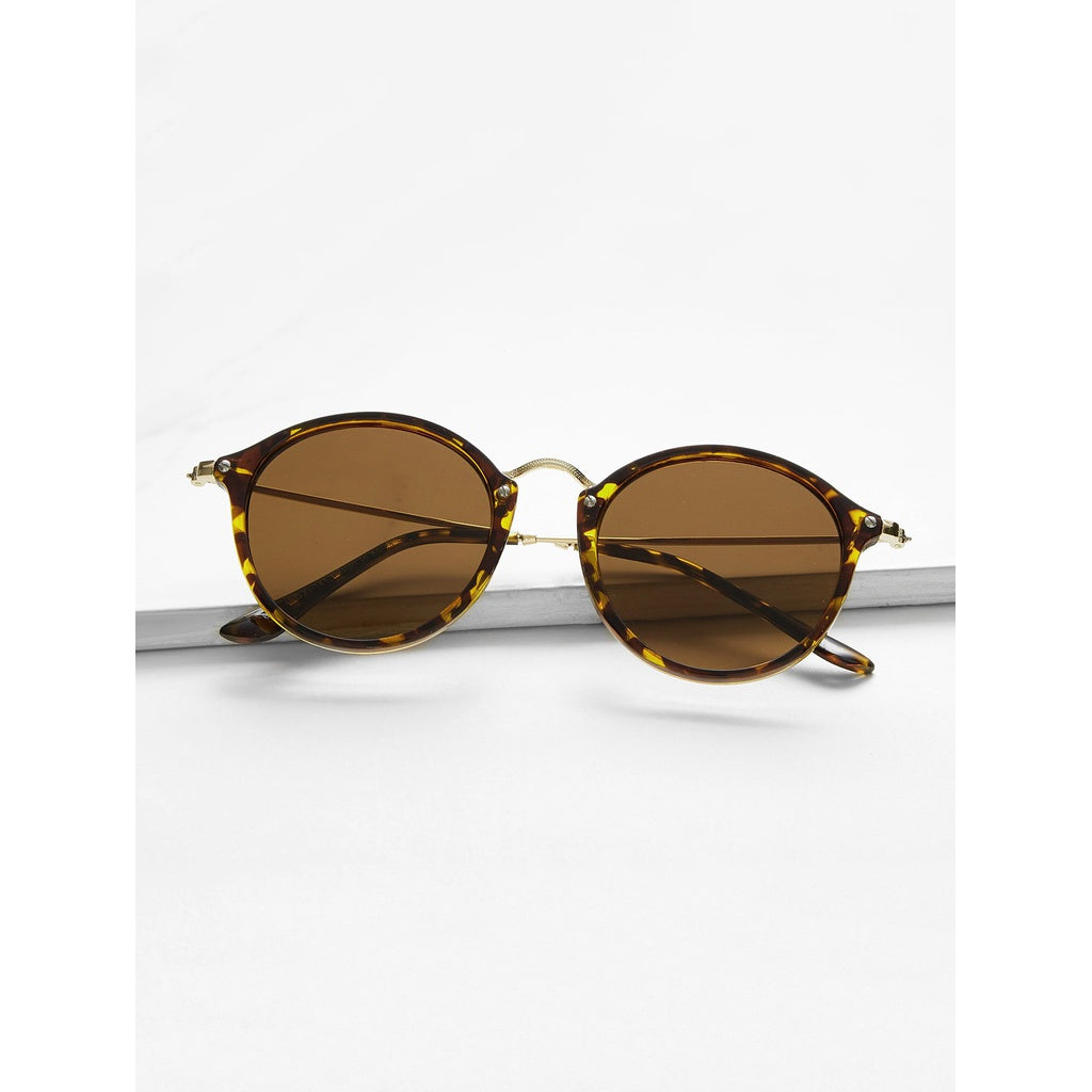 New Italian Style Metal Bridge Sunglasses