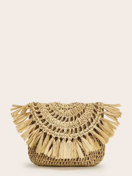 Braided Stylish Flap Clutch