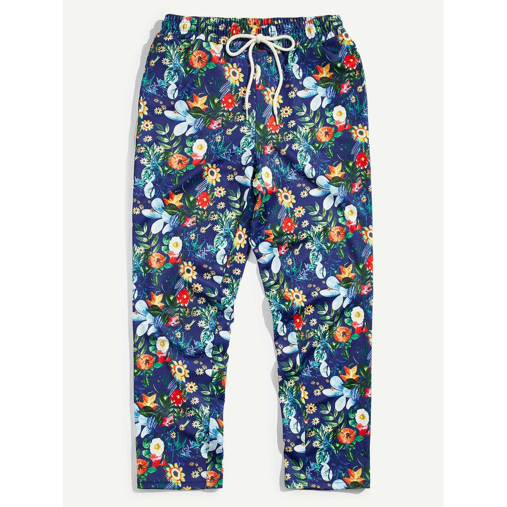 Men Unique Summer Side Tropical Sweatpants