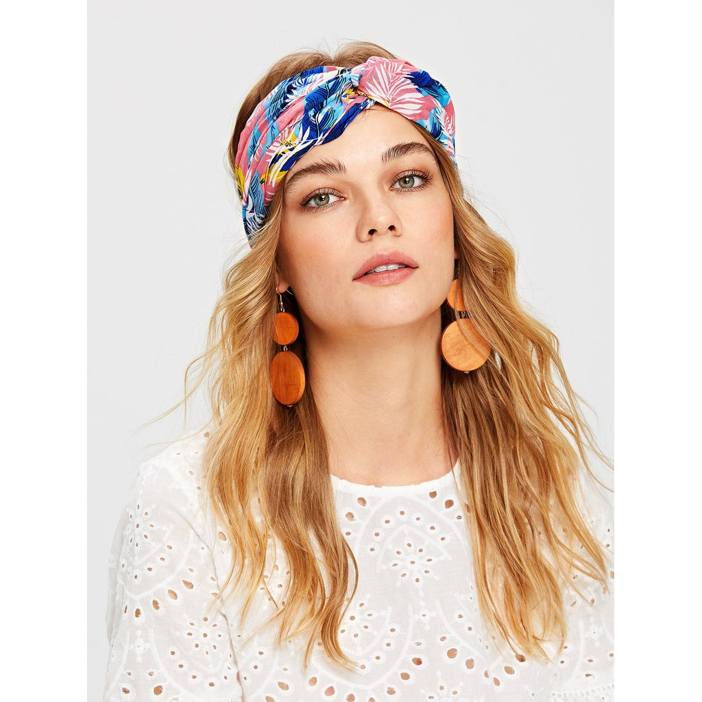 Trendy Plant Design Turban Headband