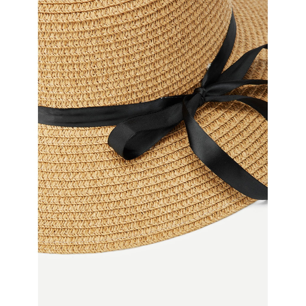 New Style Ribbon Band Straw Hat