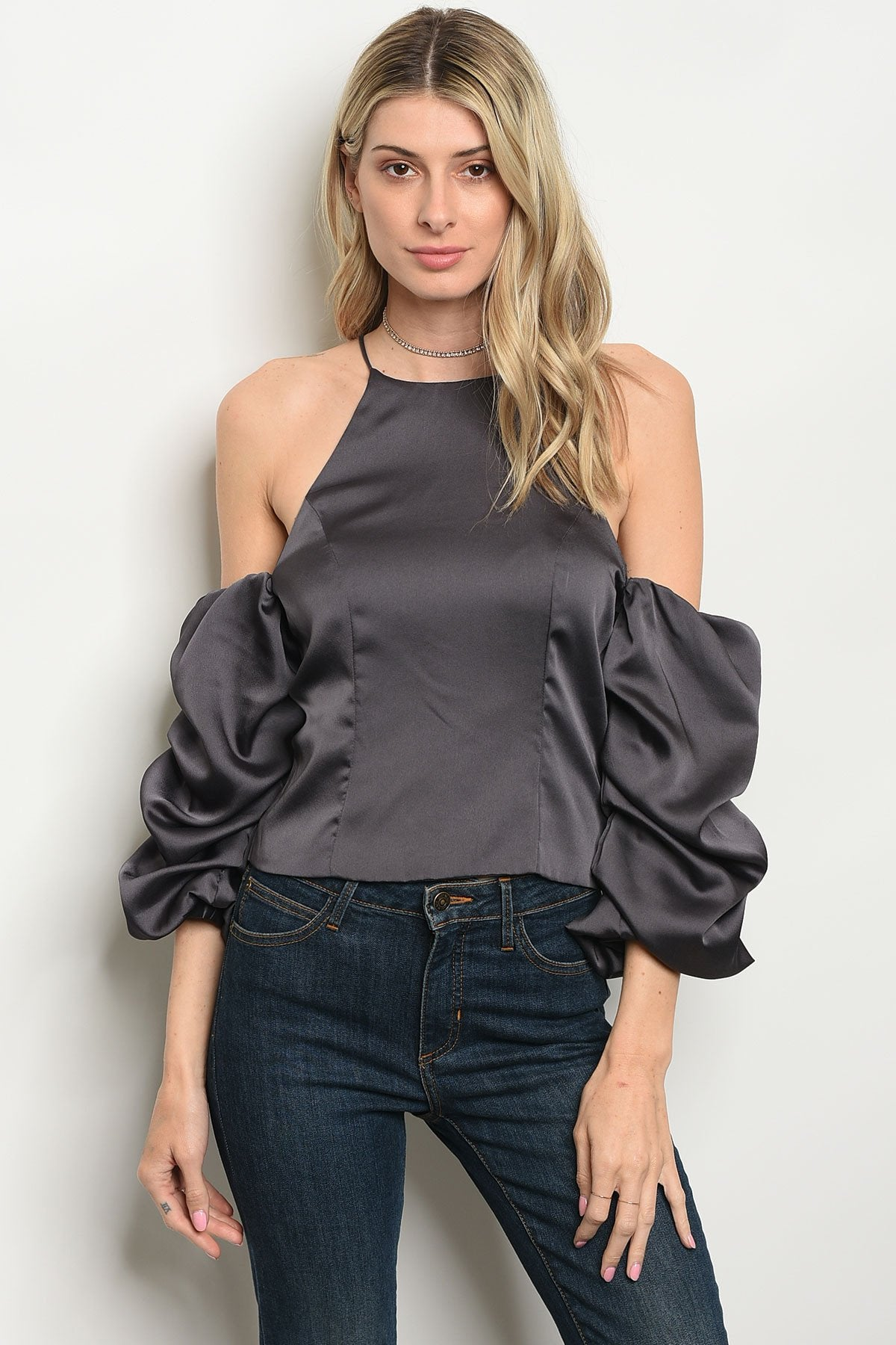 Womens Satin Top - BrandsGuru