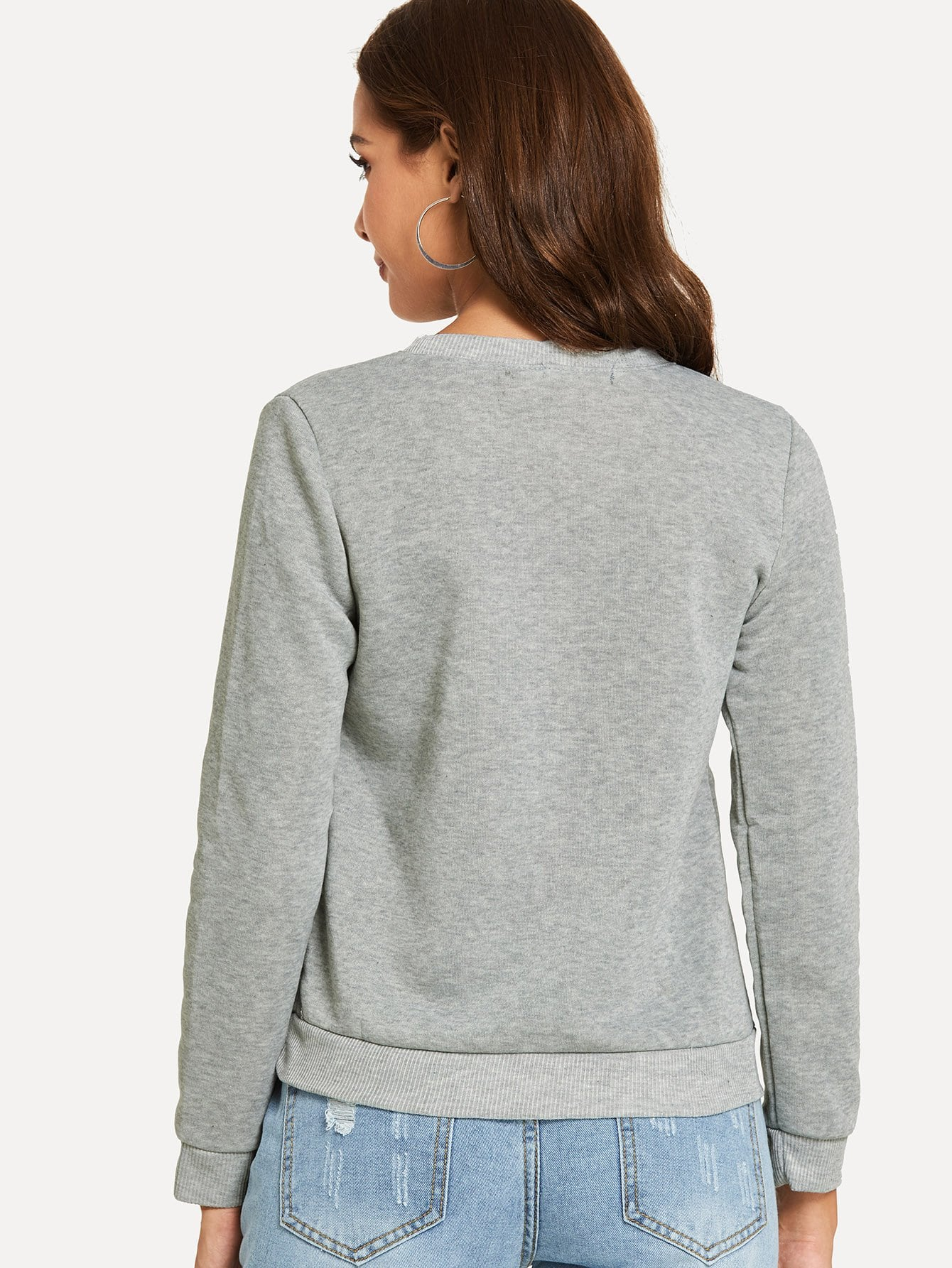 New Design Marled Knit Sweatshirt