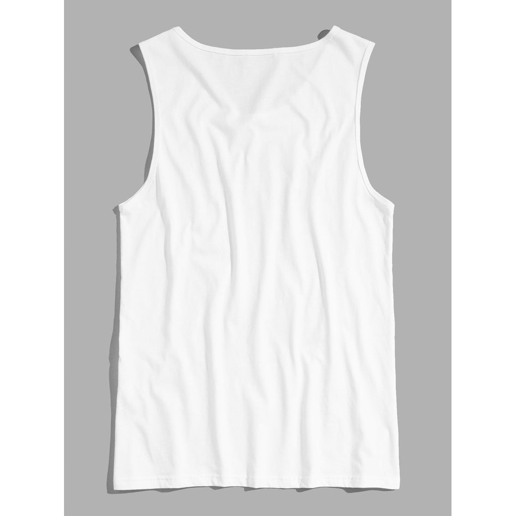 Men Sublime Text Tank Top