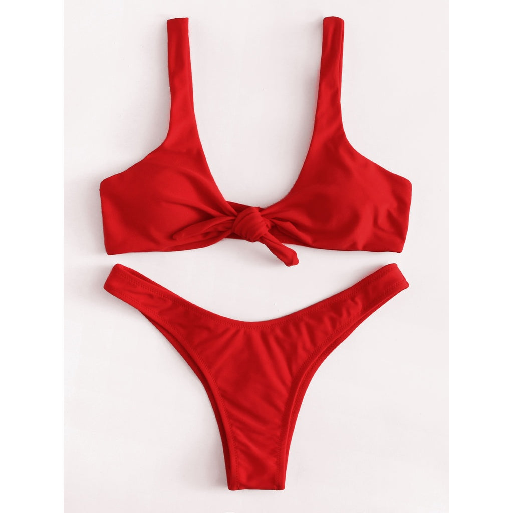 Knot High Leg Bikini Set - BrandsGuru