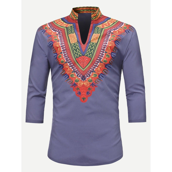 Men Desi Style Ornate Art Tee - BrandsGuru