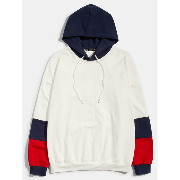New Men Multi Color Block Hoodie - BrandsGuru