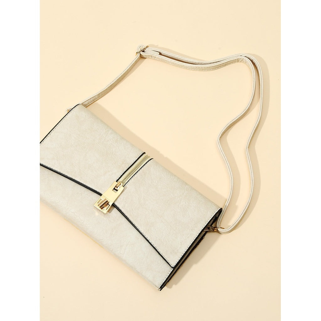 Casual Zipper Front Flap PU Clutch - BrandsGuru