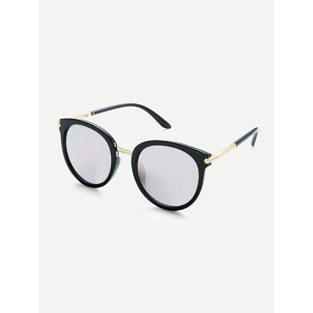 Fresh Look Two Tone Frame Flat Lens Sunglasses - BrandsGuru