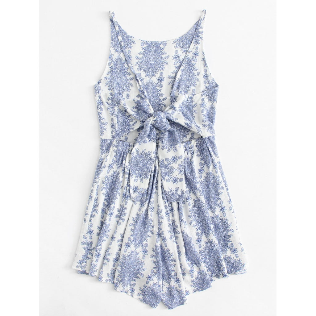 New Sublime Cot Out Back Knot Geo Romper