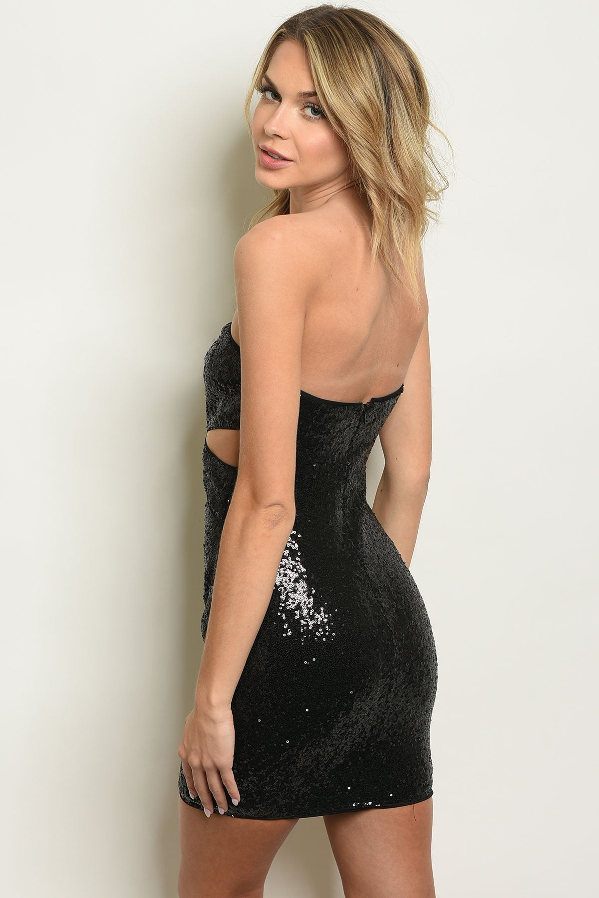 Black Gorgeous W/ Sequins Dress - BrandsGuru