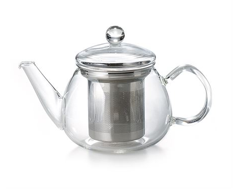 Glass teapot with stainless steel infuser from High Teas