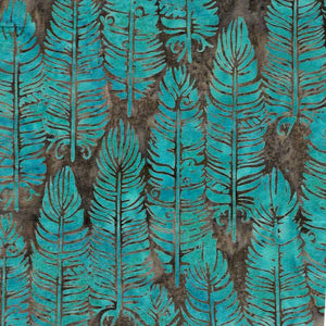 Foundations - Vertical Feathers  Turquoise - Licence To Quilt