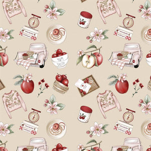 Red Blossom - Nude Apples Recipes - Licence To Quilt