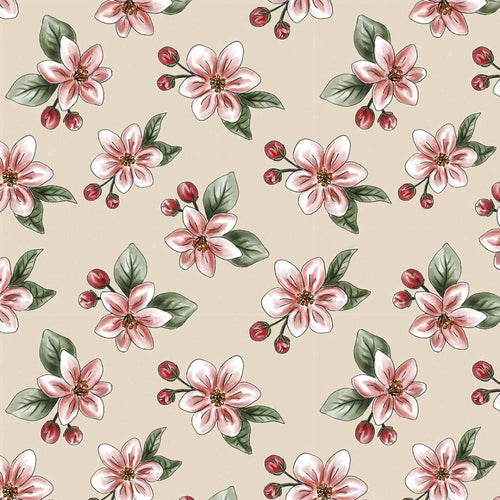 Red Blossom - Nude Apple Blossom - Licence To Quilt