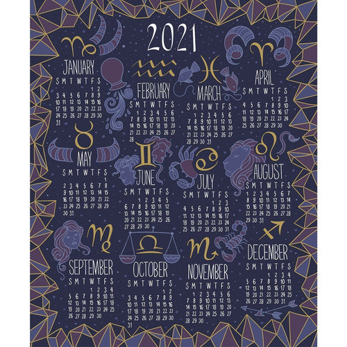 Written In The Stars - Zodiac Calendar 2021 - Licence To Quilt