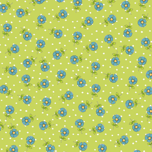 Joy Journey - Daisy Dots Green Fabric - Licence To Quilt