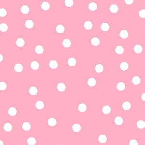 Joy Journey - Jumbo Dots Pink / White Fabric - Licence To Quilt