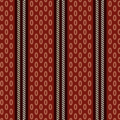 Chesapeake - Oval Stripe Red - Licence To Quilt