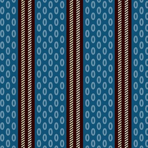 Chesapeake - Oval Stripe Blue - Licence To Quilt