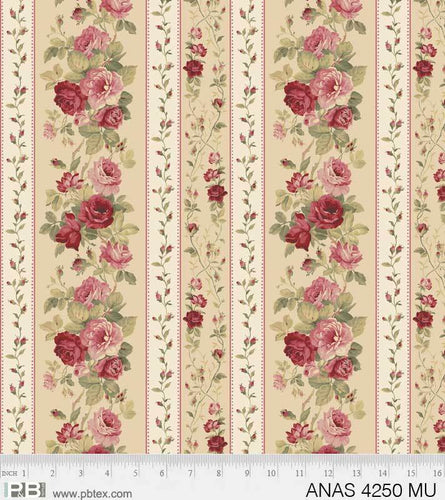 Anastasia - Rose Stripe - Licence To Quilt