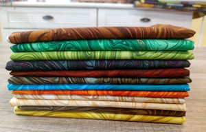 Marbles - Fat Quarter (12) - Licence To Quilt