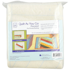 Quilt As You Go, Jakarta Placemats - Set de Table - Licence To Quilt