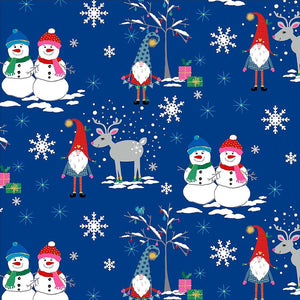 Gnome To Fa La La - Snow Village Royal Blue - Licence To Quilt