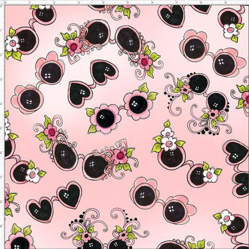 Flamingo Fancy - Tossed Shades Pink - Licence To Quilt