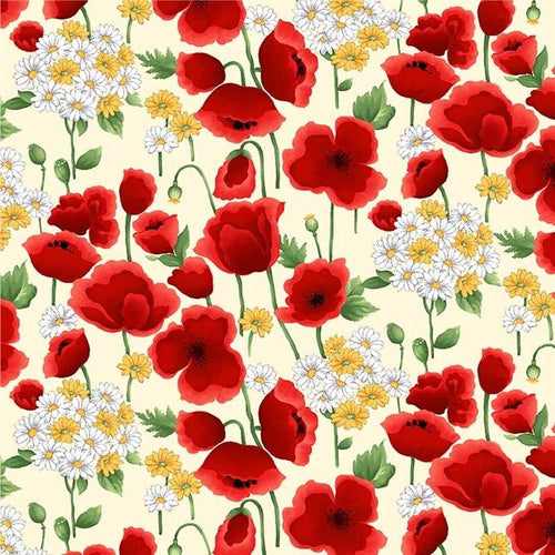 Blooms Of Beauty - Surrender Cream - Licence To Quilt