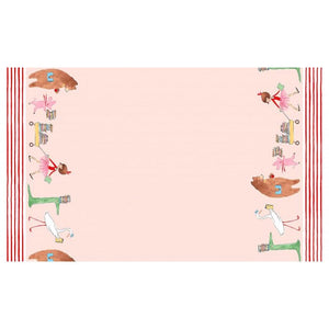 "Lola Dutch - Lola Dutch Parade - Double Border - 24"" Repeat Pink - Licence To Quilt"