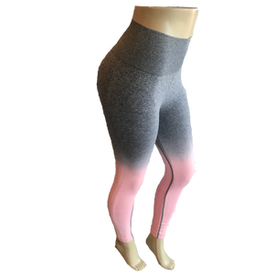 Pink & Gray Ombre Leggings