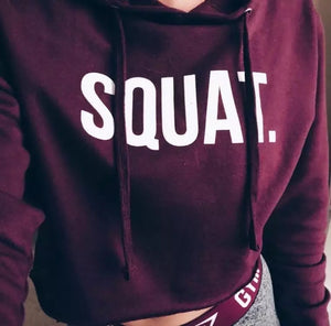 Squat Hooded Crop