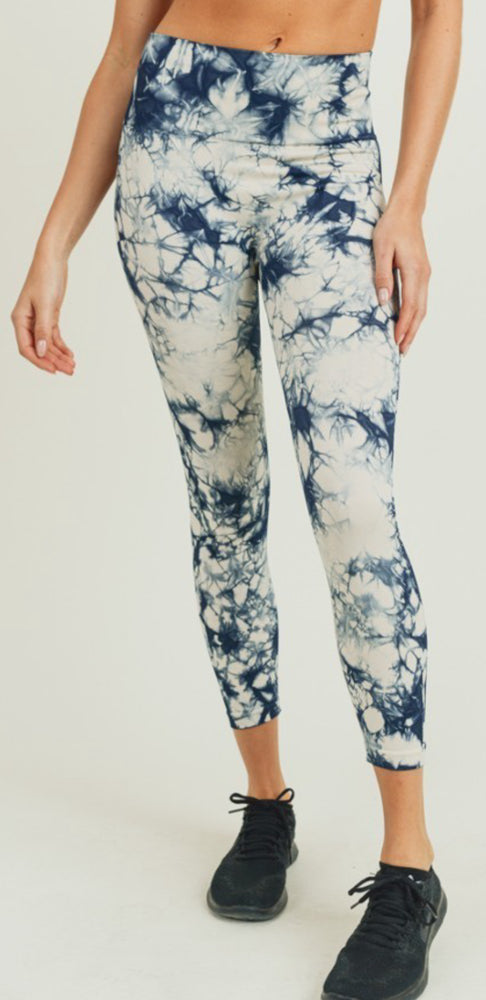 Natural Navy Tie Dye Legging