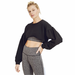 Black Bishop Drop Sleeve Crop