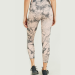 PEACH & BLACK TIE DYE LEGGINGS