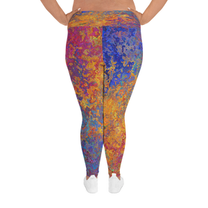 Blue Marble Plus Size Legging