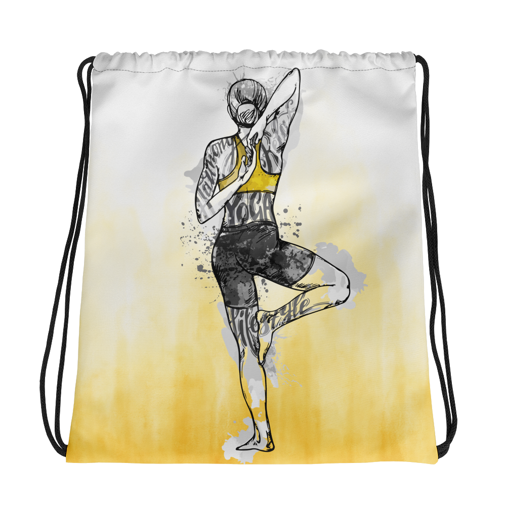 Yoga & Harmony Drawstring bag