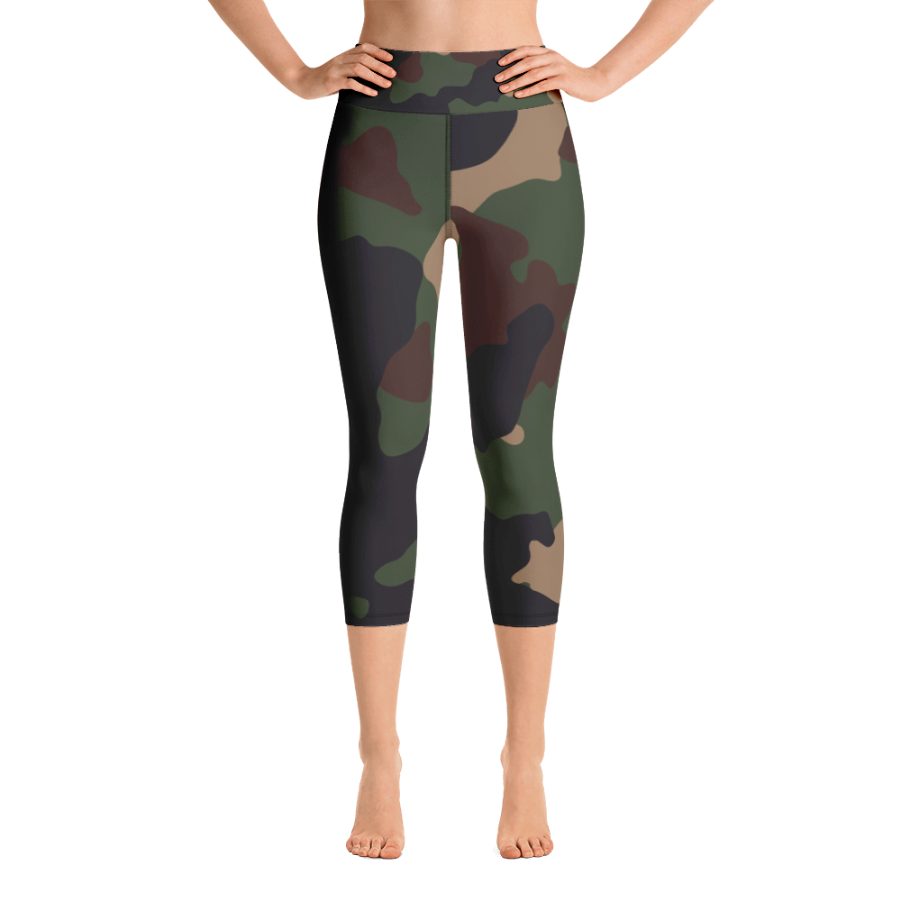 Military Camo Capri Leggings