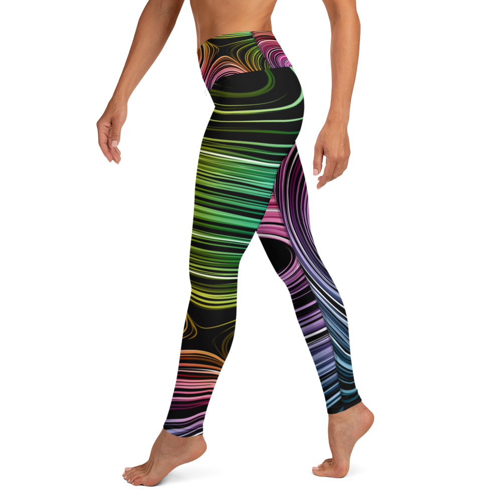 Neon Spiral Leggings