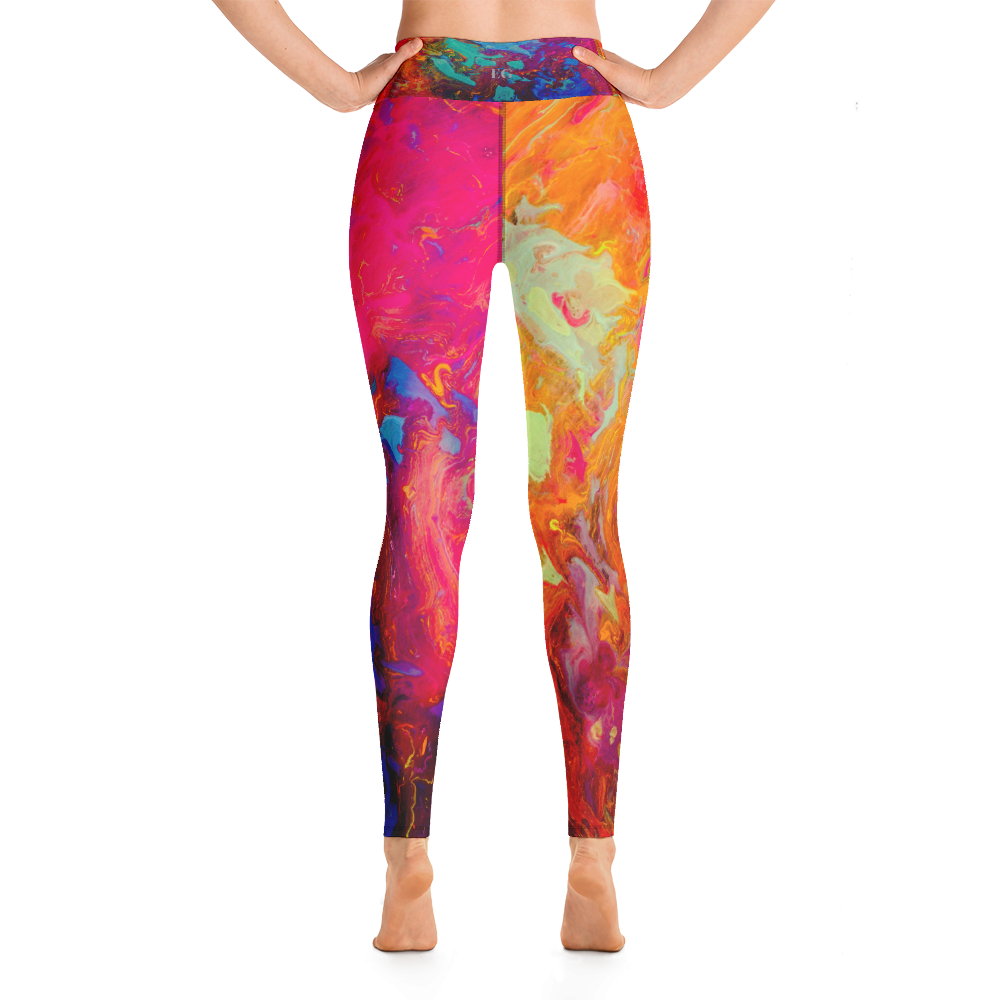 Coral Marble Leggings